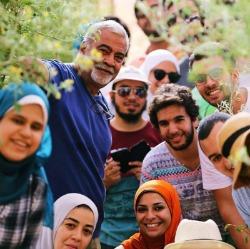 Habiba Organic Farm owner, WWOOFers and local Egyptian women