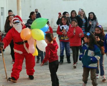 Santa Claus in Cairo for Christmas in Egypt