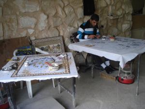 Making mosaics in Madaba, Jordan