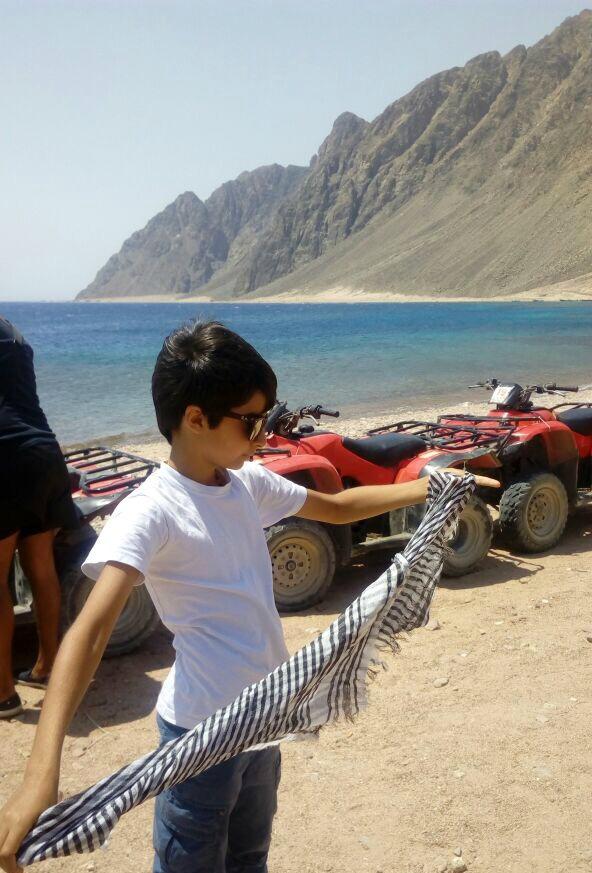 My son Nelio - Nelio Nazir in Dahab, Egypt