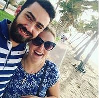 Female expat Oman, Brooke Templin, with her boyfriend