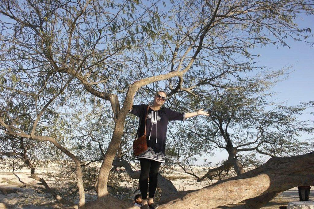 Female expat in Oman, Brooke Templin enjoying life