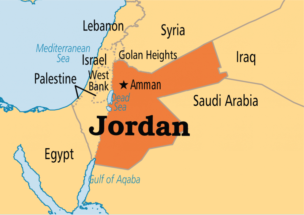 Jordanian Culture - Map of Jordan and surrounding countries
