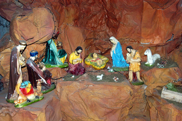 Christmas in Egypt - Nativity scene in a cave