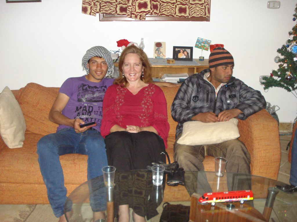 2 Christians and a Muslim at a party for Christmas in Egypt