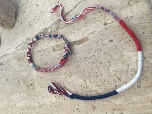 Beduoin bracelets made for me by young Bedouin women