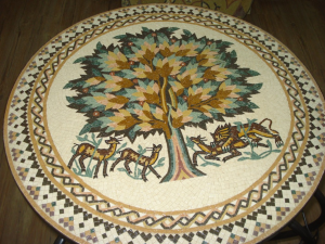 Modern mosaic in Madaba - making mosaics in Madaba