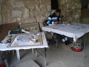 Making mosaics in Madaba, Jordan