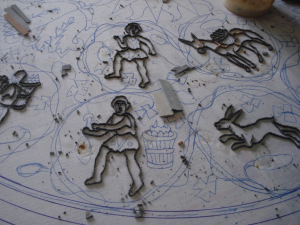 Making mosaics in Madaba - a mosaic in progress