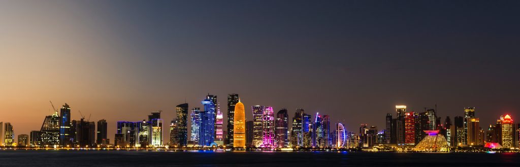 Doha, Qatar skyline, something everyone gets to see with a Qatar Airways booking with a layover in Doha