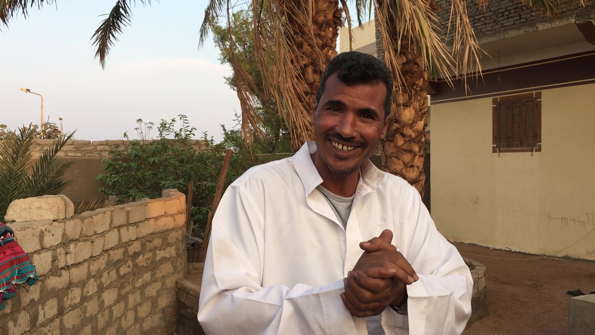 Bedouin Man Hemaid Of The Muzeina Tribe In Sinai Welcoming Viewers To A Tour Of His Enclave